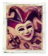 Jester Mask Fleece Blanket