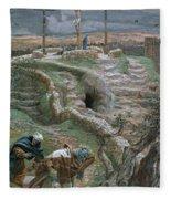 Jesus Alone On The Cross Fleece Blanket