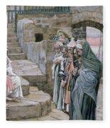 Jesus And The Little Child Fleece Blanket