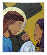 Jesus And Veronica Fleece Blanket