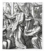 Jesus Changes Water Into Wine, Gospel Of John Fleece Blanket