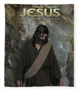 Jesus Christ- Rise And Walk With Me Fleece Blanket