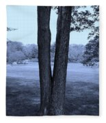 Jesus Christ Tree Cyan Fleece Blanket