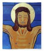 Jesus Dies On The Cross Fleece Blanket