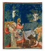 Jesus Entering Jerusalem Fleece Blanket