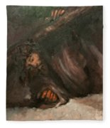Jesus Falls The Second Time Fleece Blanket