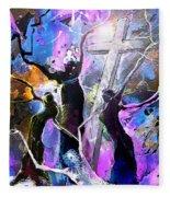 Jesus From Cross Fleece Blanket