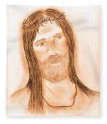 Jesus In The Light Fleece Blanket