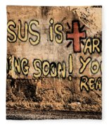 Jesus Is Coming Soon Fleece Blanket
