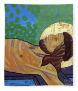 Jesus Is Nailed To The Cross Fleece Blanket