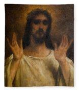 Jesus Meets The Daughters Of Jerusalem. Jesus Comfort Them. 8. Station Of The Cross Fleece Blanket