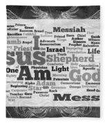 Jesus Messiah Fleece Blanket