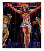 Jesus Of Nazareth Fleece Blanket