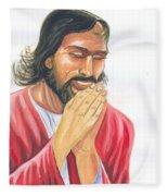 Jesus Praying Fleece Blanket
