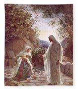 Jesus Revealing Himself To Mary Magdalene Fleece Blanket