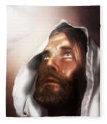 Jesus Wept Fleece Blanket