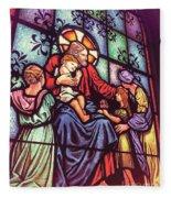 Jesus With The Children Fleece Blanket
