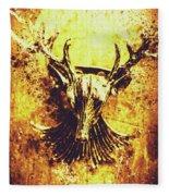 Jewel Deer Head Art Fleece Blanket