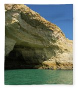 Jewel Toned Ocean Art - Colorful Sea Cave In Algarve Portugal Fleece Blanket