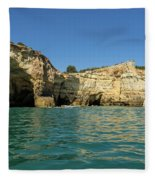 Jewel Toned Ocean Art - Gliding By Sea Caves And Secluded Beaches Fleece Blanket