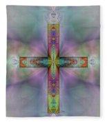 Jeweled Cross Fleece Blanket