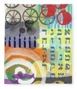 Jewish Life 1- Art By Linda Woods Fleece Blanket