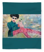 Jewish Woman Fleece Blanket