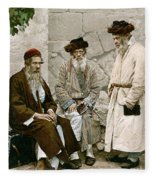 Jews In Jerusalem, C1900 Fleece Blanket