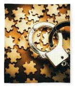 Jigsaw Of Misconduct Bribery And Entanglement Fleece Blanket