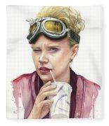 Jillian Holtzmann Ghostbusters Portrait Fleece Blanket