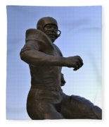 The Jim Brown Statue, Cleveland Browns Nfl Football Club, Cleveland, Ohio, Usa Fleece Blanket