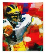 Jim Harbaugh  I Guarantee Fleece Blanket