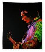 Jimi Hendrix 4 Fleece Blanket