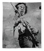 Jimi Hendrix Pop Star  Fleece Blanket
