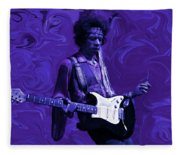 Jimi Hendrix Purple Haze Fleece Blanket