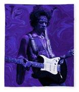 Jimi Hendrix Purple Haze Fleece Blanket