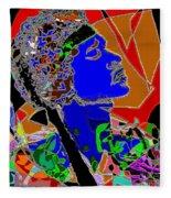 Jimi In Heaven Colorful Fleece Blanket