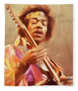 Jimi Jamming Fleece Blanket