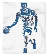 Jimmy Butler Minnesota Timberwolves Pixel Art 5 Fleece Blanket