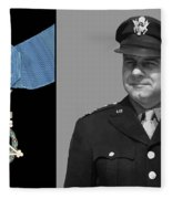 Jimmy Doolittle And The Medal Of Honor Fleece Blanket