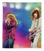 Jimmy Page - Robert Plant Fleece Blanket