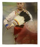 Pow Wow Jingle Dancer 1 Fleece Blanket
