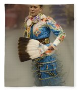 Pow Wow Jingle Dancer 7 Fleece Blanket