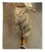 Pow Wow Jingle Dancer 9 Fleece Blanket