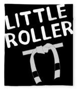 Jiu Jitsu Bjj Little Roller White Light Fleece Blanket