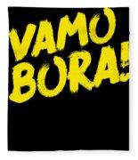 Jiu Jitsu Design Vamo Bora Yellow Light Martial Arts Fleece Blanket