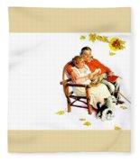 Jlm-norman Rockwell 28 Norman Rockwell Fleece Blanket