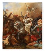 Joan Of Arc In The Battle Fleece Blanket