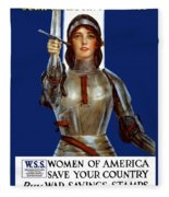 Joan Of Arc Saved France - Save Your Country Fleece Blanket