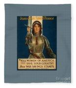 Joan Of Arc World War 1 Poster Fleece Blanket